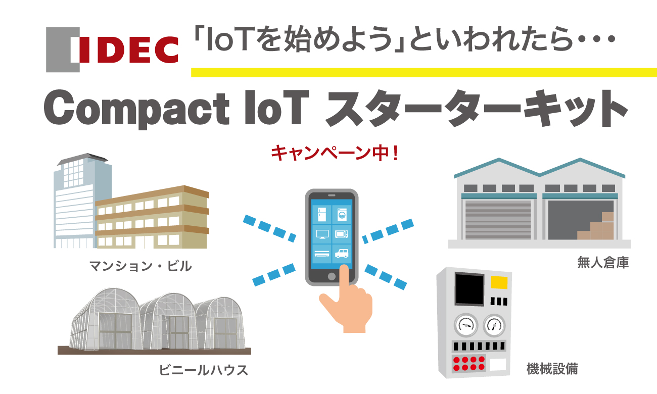 IDEC「FC6A Plus Compact IoT スターターキット」キャンペーン実施中!