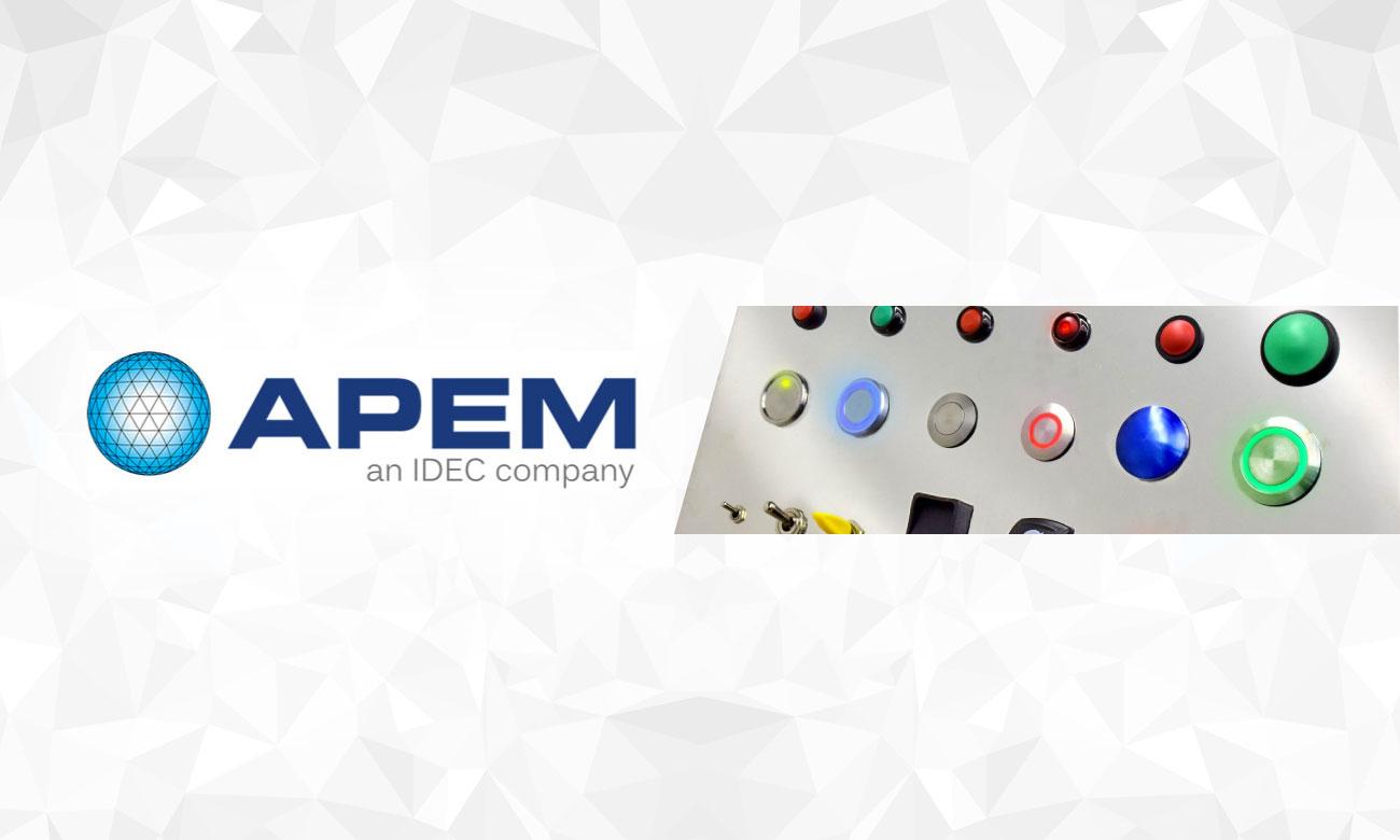 APEMの耐環境性、デザイン性の高いスイッチ、表示灯を日本で新発売